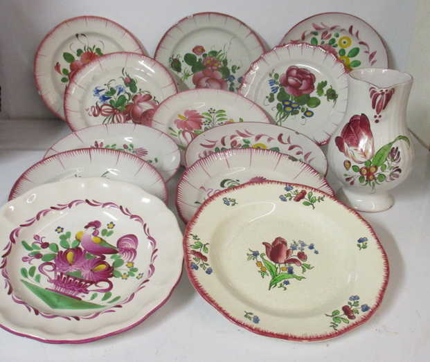 antique ceramic plate Strassbourg