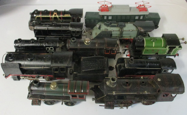 antique tin toy trains locos